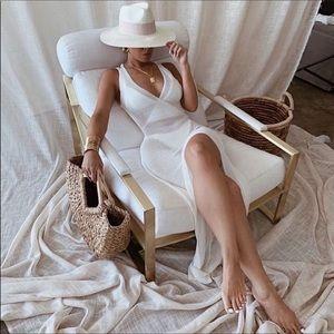Kenzie High Slit Maxi Open Back Knit Coverup Dress